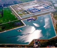 Luftbildaufnahme eines Wasserwerkes in Vietnam - noch ohne PV-Anlage