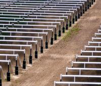 Solarkollektorfeld in Vojens, Dänemark