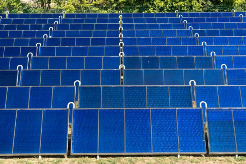 Große Solarthermie-Anlage