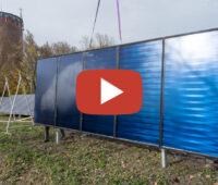 Startbild für Video vom Bau der Solarthermieanlage