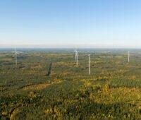 Luftbild des finnischen Windparks Haapajärvi von ABO WInd
