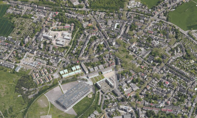 Zu sehen ist ein Luftbild von Herne, der Energie-Kommune des Monats.