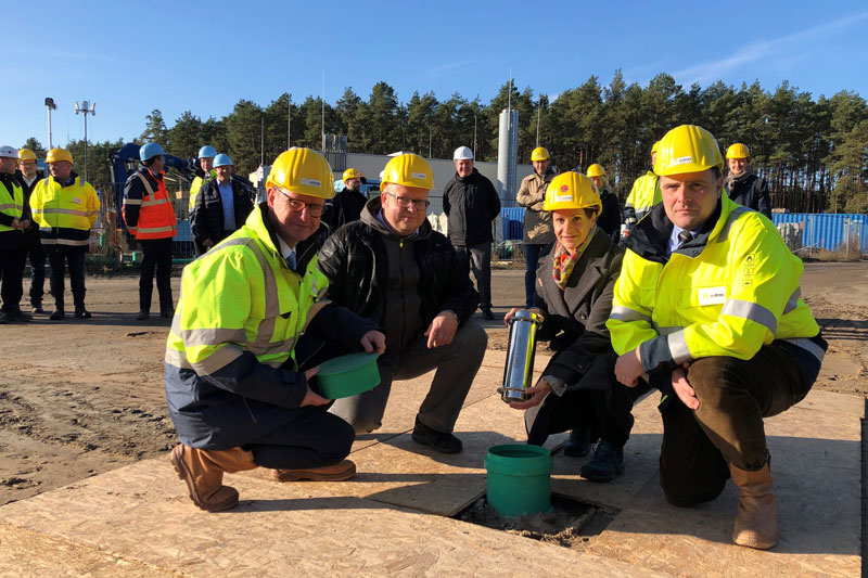 Grundsteinlegung für größte Solarthermie-Prozesswärmeanlage Deutschlands