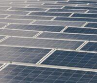 Eine große Fläche von Solarmodulen.