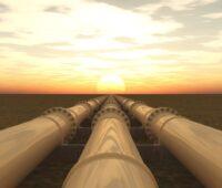 Pipeline für Erdöl oder Erdgas - fossile Brennstoffe