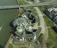 Landtagsgebäude von NRW am Rhein