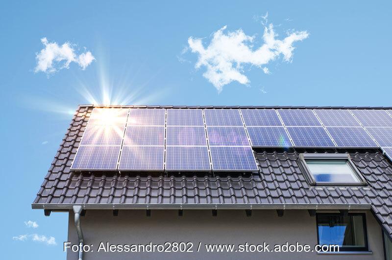 Photovoltaik auf einem Privathaus