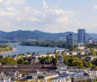 Blick auf die Stadt Bonn am Rhein