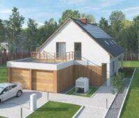 Einfamilienhaus mit Ladesäule und Solaranlage