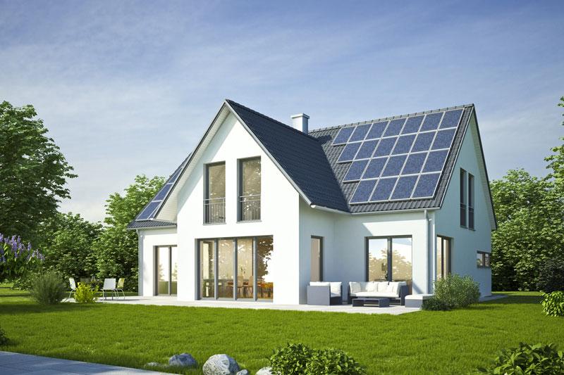 Schickes Einfamilienhaus mit Photovoltaikanlage