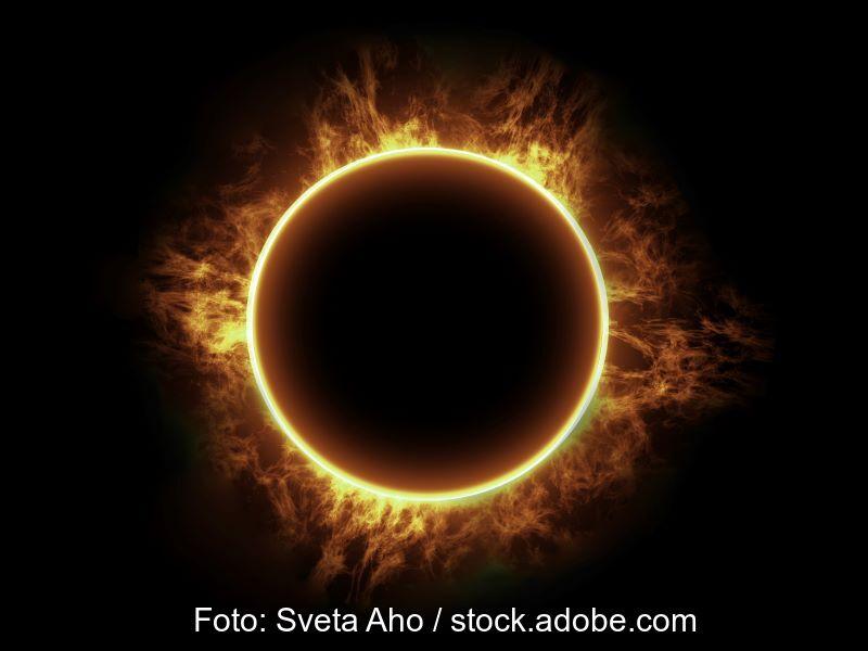 Foto einer Sonnenfinsternis