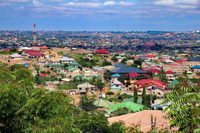 Blick über Ghanas Hauptstadt Accra.