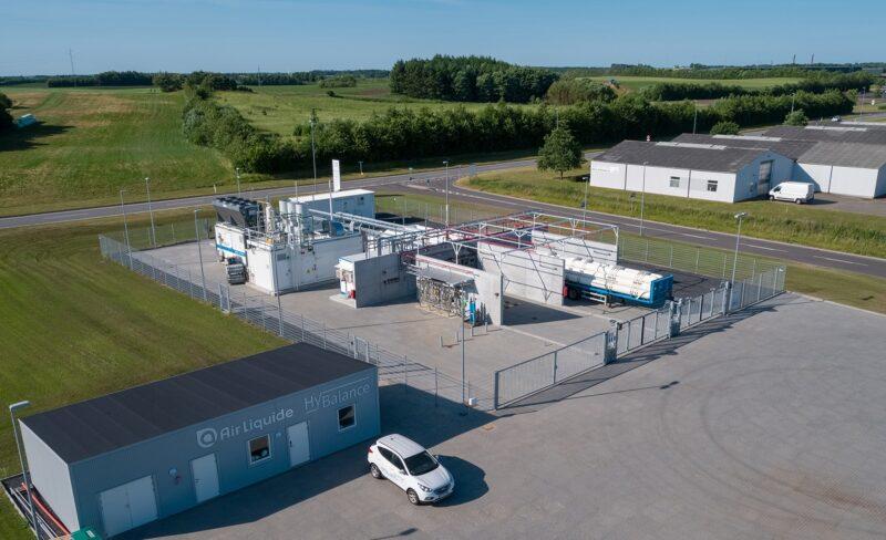 Zu sehen ist die HyBalance-Elektrolyse-Anlage in Dänemark.