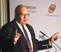 Bundeswirtschaftsminister Peter Altmaier am Rednerpult