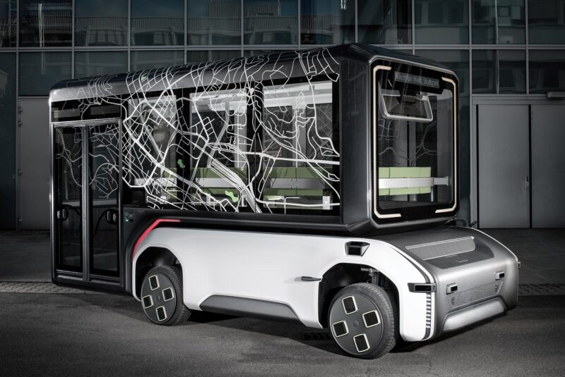 Zu sehen ist eine Abbildung eines Fahrzeugs, das nach dem Fahrzeugkonzept U-Shift gestaltet wurde.