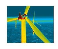 Zu sehen ist eine Thermografie für Windkraft-Anlagen.