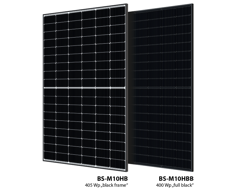 Zu sehen ist die neuen Photovoltaik-Modulreihe BS-M10 von Bauer Solar.