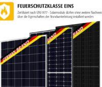 Zu sehen sind die Photovoltaik-Modul von Bauer.