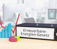Zu sehen ist eine symbolische Darstellung für einen Fahrplan für den weiteren Ausbau der Erneuerbaren Energien im Rahmen der EEG-Novelle.