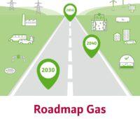 Zu sehen ist das Deckblatt der Roadmap Gas.