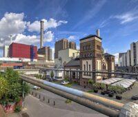 Zu sehen ist ein Wärmekraftwerk in Frankfurt/Main. Für Anlagen wie diese soll es nach Vorstellung der Energie-Verbände einen EE-Wärmebonus geben.