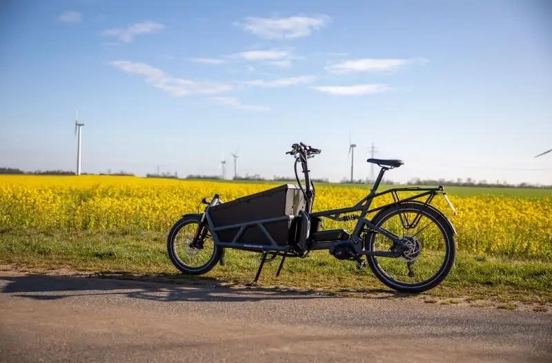 Zu sehen ist eines der E-Lastenfahrräder, für die es bei gewerblicher Nutzung Förderung gibt.