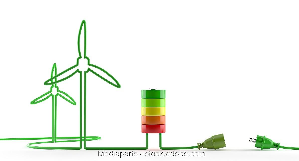 Zu sehen ist ein symbolisches Bild zur CO2-Kreislaufwirtschaft auf der Basis von Windenergie.