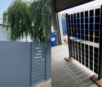 Zaunelemente, konventionell und photovoltaisch