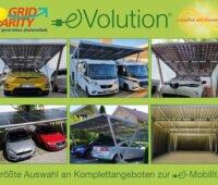verschiedene Bilder Solarcarports von GridParity: next generation photovoltaik