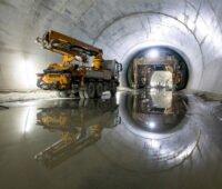 Blick in die Tunnelbaustelle
