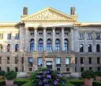 Die Hauptfassade des Bundesrates