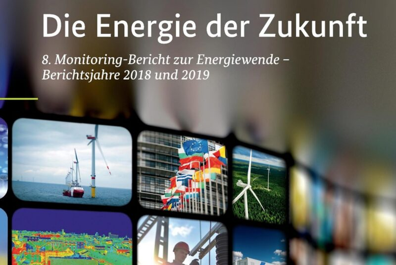 Zu sehen ist das Deckblatt vom 8. Monitoring-Bericht zur Energiewende.