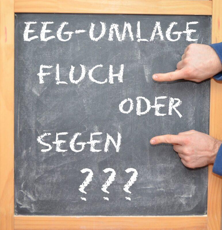 Zu sehen ist eine Grafik zur EEG-Umlage, die Bundeswirtschaftsminister Altmaier abschaffen will.