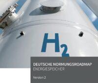 Zu sehen ist das Cover der Normungsroadmap Energiespeicher.