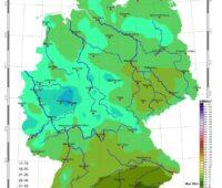 Zu sehen ist eine Karte mit der Sonneneinstrahlung in Deutschland im Oktober 2020.
