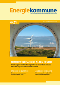 Titelbild der Zeitschrift Energiekommune 4/2021