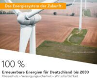 Titelbild der Studie 100 % Erneuerbare Energien (Ausschnitt)