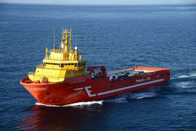 Ein Schiff mit Brennstoffzellenantrieb auf dem Meer