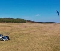 Zu sehen ist der 30-kW-Demonstrator der Flugwindkraftanlagen von EnerKite.