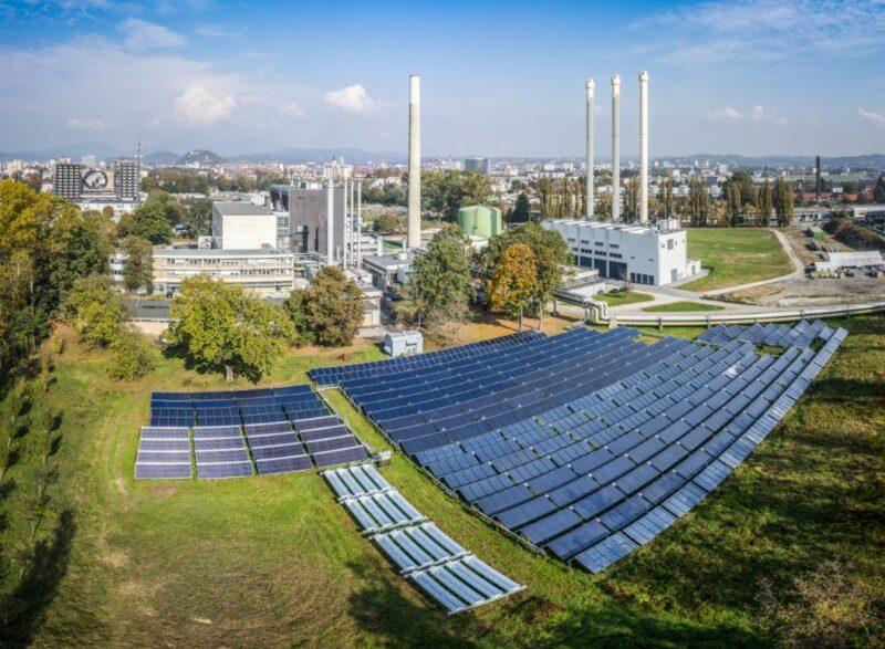 Zu sehen ist das Solartheizwerk Graz, an dem der Qualitätsnachweis für Solarthermie-Großanlagen getestet wurde.
