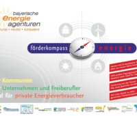 Förderkompass der Bayerischen Energieagenturen: Zu sehen ist das Deckblatt der pdf.