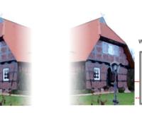 Grafik zeigt die schematische Einbindung von Wärmepumpen in ein altes Gebäude.