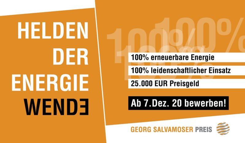 Zu sehen ist das Kampagnen-Bild vom Georg Salvamoser Preis.