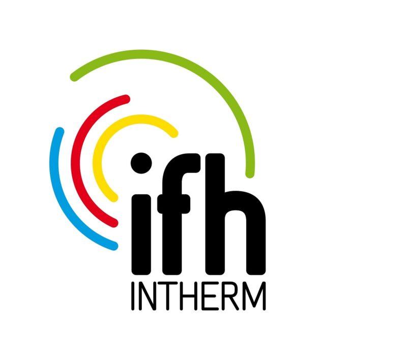 Die IFH/Intherm muss wegen der Corona-Epidemie verschoben werden. Zu sehen ist das Logo der Messe.
