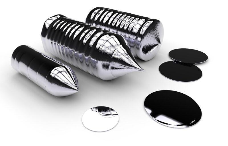 Zu sehen sind Silizium-Ingots, aus denen sich die Photovoltaik-Wafergrößen ableiten.