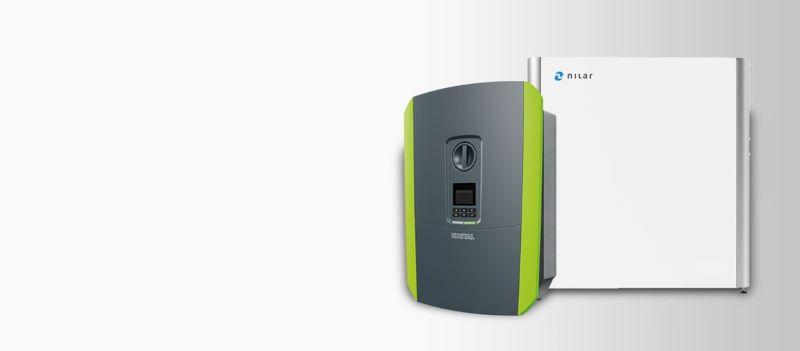Produktfoto von Kostal Solar und Nilar-Batterie.