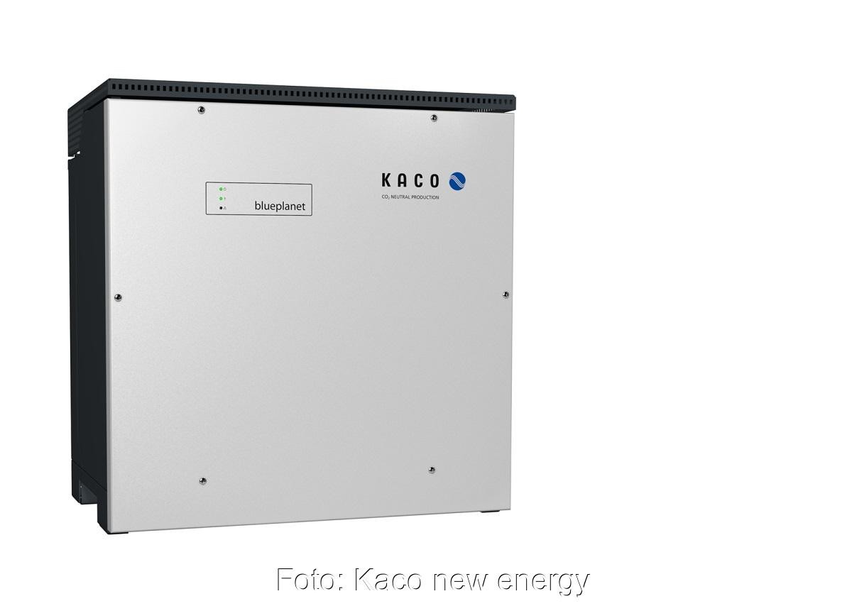 Zu sehen ist der neue blueplanet Photovoltaik-Wechselrichter von Kaco.