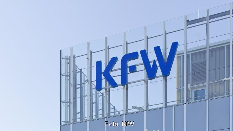 Das Hauptgebäude der KfW in Frankfurt.