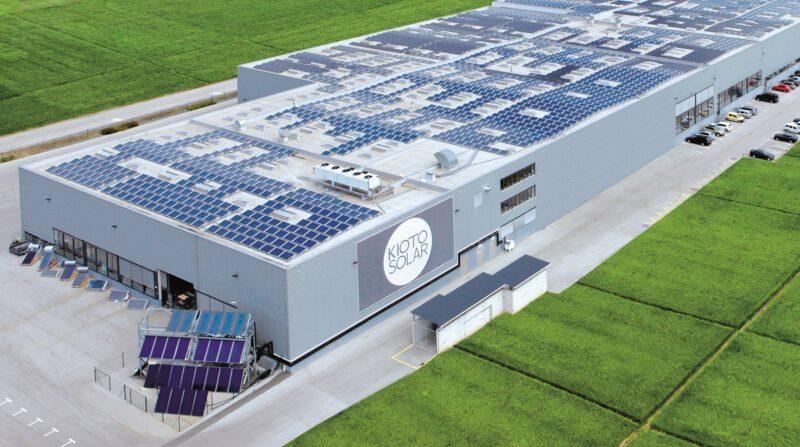 Zu sehen ist der Produktionsstandort von Kioto Photovoltaics in St. Veit in Kärnten.