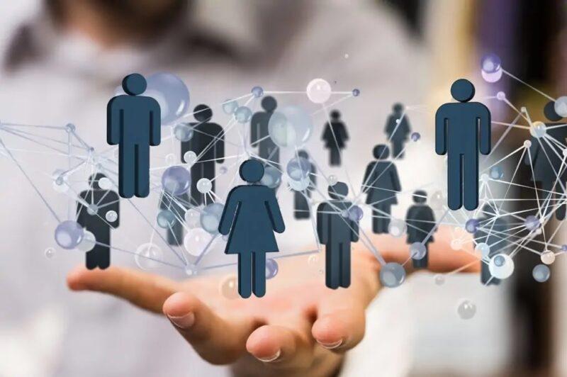 Zu sehen ist ein Netzwerk von Menschen als symbolische Darstellung für die Veranstaltungen der Conexio-PSE GmbH.